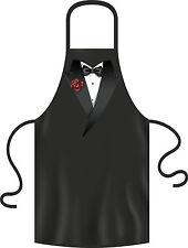 Kochschürze Männer Smoking Fliege schwarz Partyschürze lustige Grillschürze