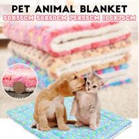 4 Größen Weich Gemütlich Warm Fleece Haustier Hund Katze Decke Samt Bett Matte