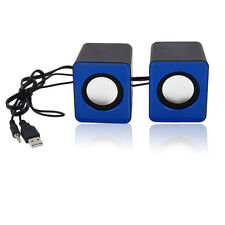 A Pair USB Multimedia Mini Speaker 3.5mm Jack for Computer Desktop PC Laptop New