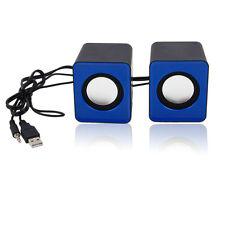 A Pair USB Multimedia Mini Speaker 3.5mm Jack for Computer Desktop PC Laptop New