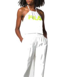 FILA Femme Claire Imprimée Haut Blanc Jaune 687080-A298