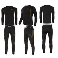 Thermal underwear set Men Winter Long Johns Sweat fleece quick drying Warm Sport