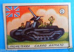 figurines cromos figurine v.a.v. vav 104 la guerra nostra england carri armati f