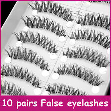 10 pairs / box False Eyelashes 100% Handmade Messy Cross Eye Lashes LASGOOS