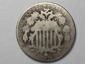 Better-Date 1870 US Shield Nickel.  #22