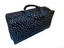 Knitting /& Craft Bag Navy with White Flower Design Bowling Bag Style FF224