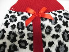 Lovely Snow Leopard Print Medium Dog Sweater Pug Frenchie Jack Russell