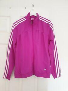 Adidas Originals Jacket Top Tracksuit Purple Pink Three Stripe Size 12