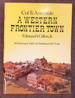 Cut and Assemble a Western Frontier Town by Edmund Gillon 10 BUILDINGS HO Scale