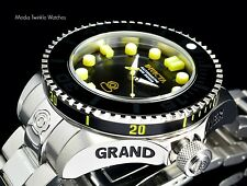 New Invicta 47mm Grand Diver 2 Gen II Automatic Black  Dial Yellow Markers Watch