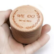 1 x Ring Bearer Box Ring Holder Wooden Pillow Box Wedding Supplies Rust TYP