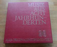 MUSIQUE DE ACHT SIÈCLES sur instruments d'époque 10 LP box