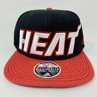 Adidas Miami Heat Adjustable Snapback Hat NBA Basketball Size Small / Medium