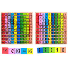 Montessori Multiplication Table Educational Wooden Math Learning Toy BS