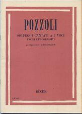 POZZOLI - Solfeggi cantati a 2 voci - Facili e progressivi - SPARTITO SHEET