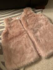 Next Faux Fur Gilet.size M (fits 12/14)