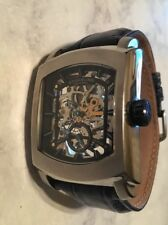 Stuhrling Original Men's Midtown Banker Mechanical Skeleton Silvertone Watch