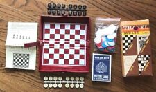 TRAVEL MULTI GAMES, 4 IN 1, Chess..Playing Cards..Chips..Checkers..Magnetic Case