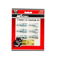 Milton S212 M-Style Air Coupler and Plug Set - 1/4in. NPT, 7-Pcs