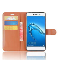 Luxury PU Leather Wallet Protective Case Flip Stand Cover For Huawei Elate 4G