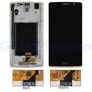 LG G Stylo H630d, G4 Stylus F560K LCD Screen Digitizer Gold Frame Black Small IC