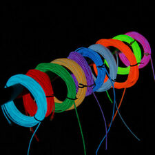 Neon LED Light Glow EL Wire String Strip Rope Tube Decor Car Party Decorative