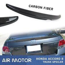 Carbon Fiber 08-12 For Honda Accord 8 4Door Sedan OE Type Rear Trunk Spoiler