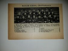 Baylor School Chattanooga TN Rollins College Florida 1928 Football Team Picture