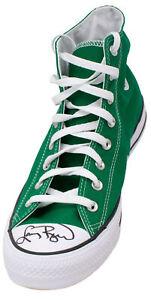 Larry Bird Signed Left Celtics Green Converse Chuck Taylor Bird Hologram JSA