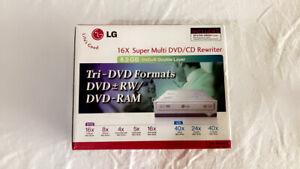 LG Internal 16x Super Multi DVD/CD Rewriter GSA-4160B DVD Burner In Box