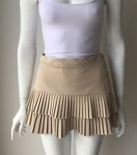 BCBG Max Azria Nude Pleated Mini Skirt Size 2