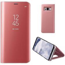 Housse Etui, coque à clapet miroir translucide  rose pour Samsung Galaxy A3 2017