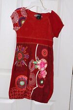 SHORT SLEEVES GIRLS DESIGUAL DRESS  SIze 7/8