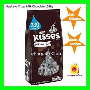 Hersheys Kisses Milk Chocolate Bag 1.58kg Hershey's  eBC