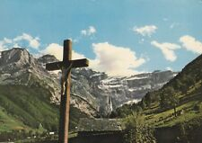 """*Religious Postcard-""""Beautiful Pyrenees-Christ Watches Over Mountaineers""""(U2-285"""