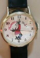 (5/28) RARE Vtg. Hamm's Beer Bear Watch Clock - WORKS!!