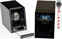 Luxury Display Single Automatic Watch Winder- model: Castle-01MB/WM LED Lights