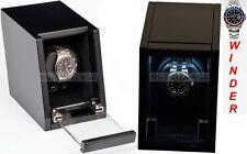 Luxury Display Single Automatic Watch Winder- model: Castle-01MB/WM LED Lights