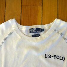 Vintage 90s POLO RALPH LAUREN Men USA Spellout Crew Neck Sweatshirt Sweater S