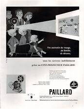 ▬► PUBLICITE ADVERTISING AD PAILLARD Ciné-projecteur Bolex 1957
