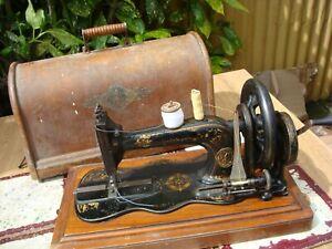 Antique Old Vintage Hand Crank  Singer sewing machine Mode 12K See Video