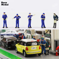 5pcs Race Medal 1:64 Oilers and Gas station Scenario Model Set For Gifts Play