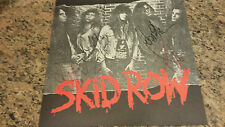* SKID ROW * signed 1989 album flat by Bach, Hill, Affuso Bolan / UACC RD COA