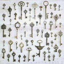 60 Deko Schlüssel Streudeko Hänger Bronze Tischdeko Nostalgie Messing Vintage