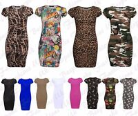 New Girls Teens Cap Sleeve Bodycon Kids Children Summer Midi Dress Ages 7-13