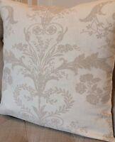 3 sizes, cushion cover in Laura Ashley Josette dark linen/Austen fabric reverse