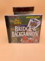 Video Game PC Pro Series Bridge & Backgammon by Global Star NEW SEALED Jewel