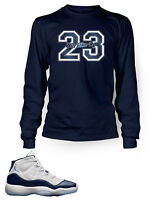 Tee Shirt To Match AIR JORDAN 11 Win Like 82 Long Sleeve Pro Club Graphic Tee