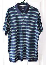 Men's Adidas Golf Polo Shirt Size Xl Loch Lloyd Logo on the Sleeve Striped