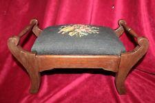 Three Mountaineers Vintage Needlepoint Footstool